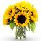 send half dozen sunflower in vase to manila